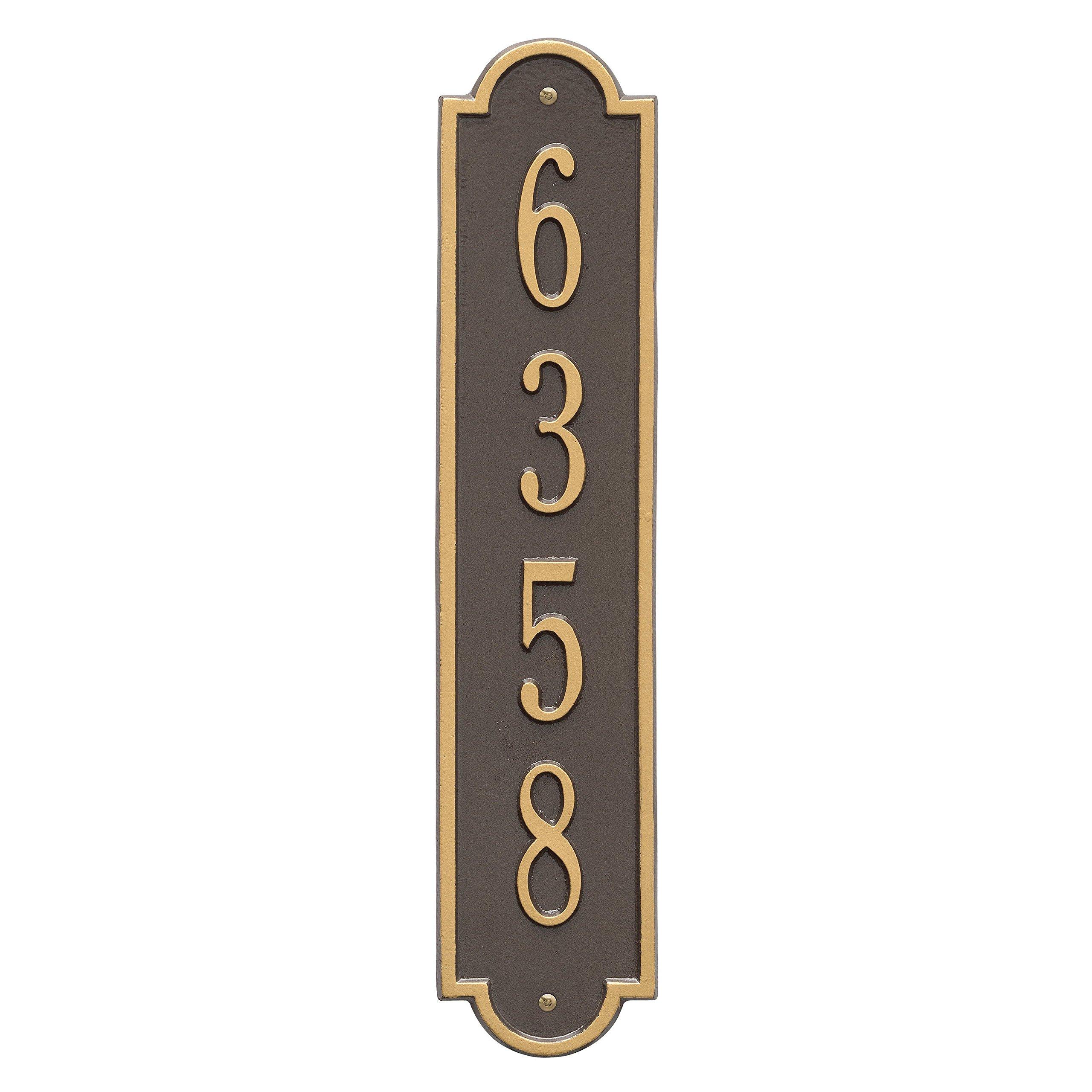 Richmond Vertical Address Plaque 4''Wx19''L (1 Line)