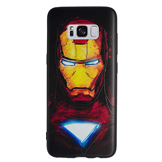 premium selection 91a1e 22fda Amazon.com: Galaxy S8 Plus 3D Marvel Silicone Phone Case/Gel Cover ...