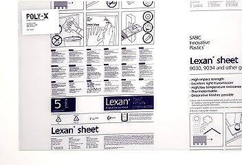"Clear Lexan 9034 Polycarbonate 1//4/"" x 30/"" x 48/"""
