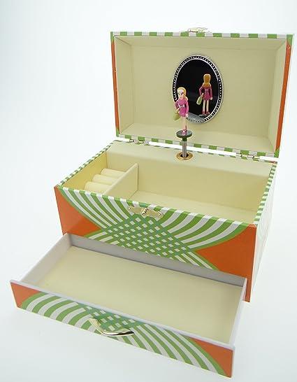 Mele & Co Zara - Joyero tipo cajita de música, diseño de bailarina, color