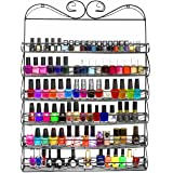 Sorbus 6 Tier Nail Polish Rack & Multi-Purpose Wall Organizer Display - Metal Vintage Style Mountable Shelf Holds at Least 72 Nail Polishes - Great for Home, Business, Salon, Spa, and More