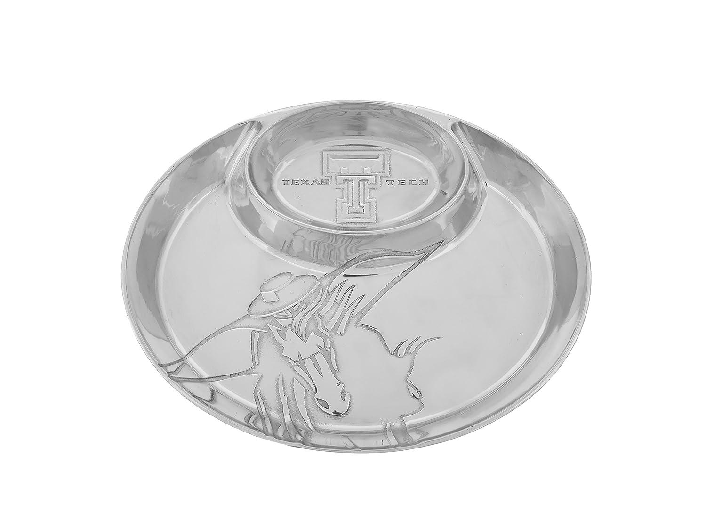 Arthur Court Texas Tech Masked Rider 14 x 11 Aluminum Chip and Dip Tray