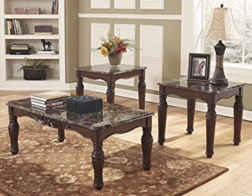 Ashley Furniture Signature Design  North Shore Occasional Table Set End Tables and Coffee Amazon com