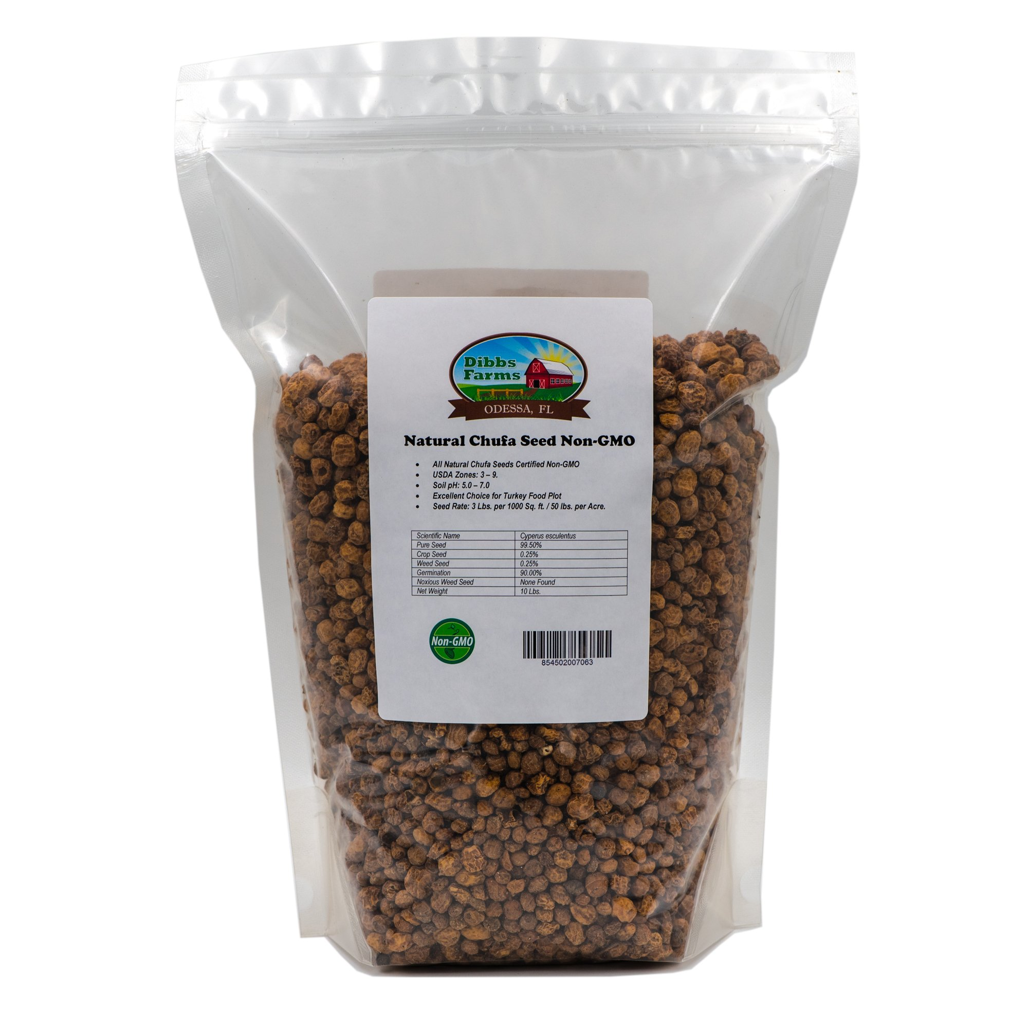 Natural Chufa Seeds | Tiger Nuts (Non-GMO) - 10 lbs. by Dibbs Farms