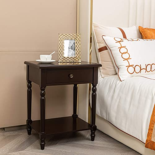 HAWOO Nightstand Square Coffee Table