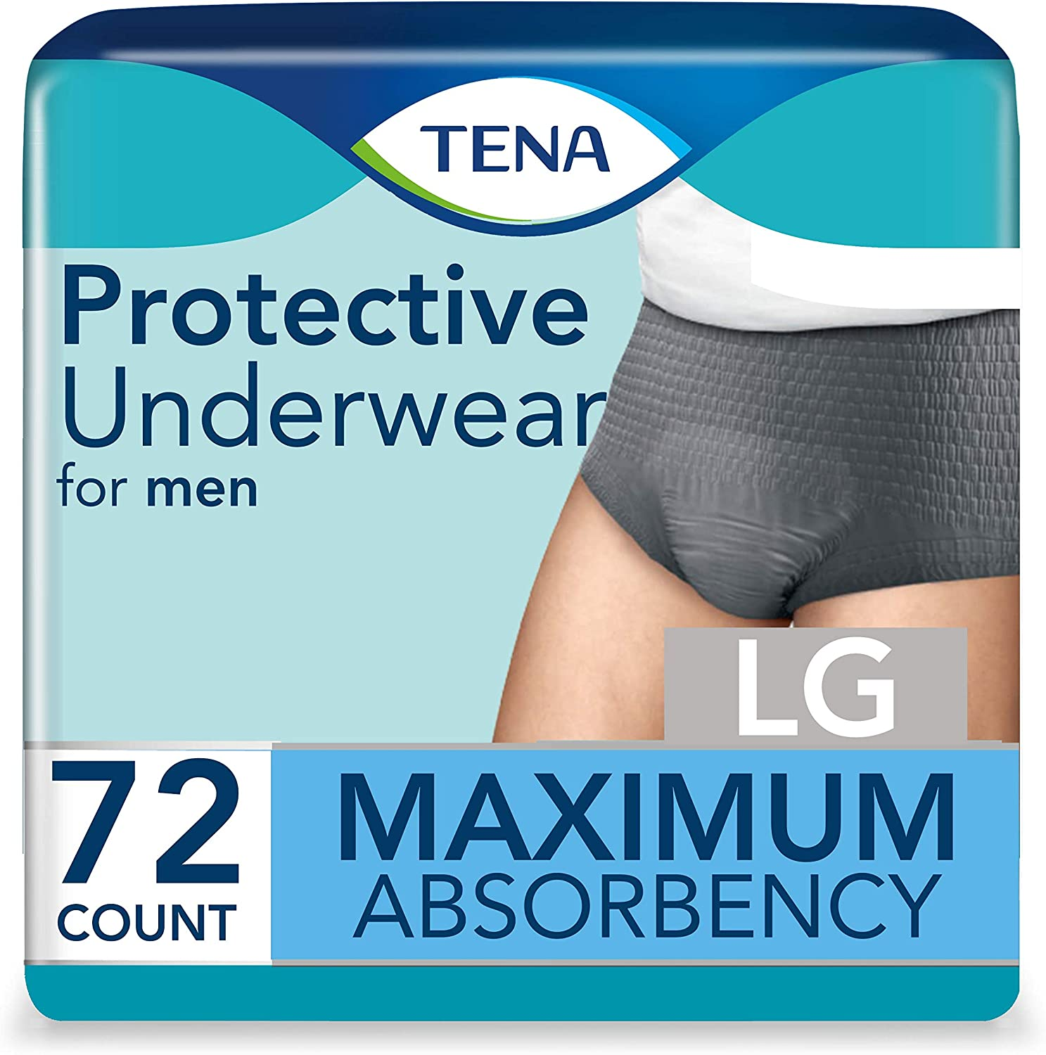 Tena Disposable Underwear Male Pull On with Tear Away Seams Large, 73530, 72 Ct
