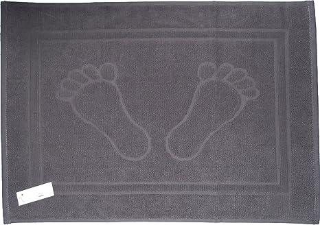 Unbekannt Alfombrilla de Ducha, Alfombra de baño, de Tejido de Rizo, Toallas de baño, 50 x 70 cm, diseño de pies, Colour sólido, de baño, 100% de algodón, ...