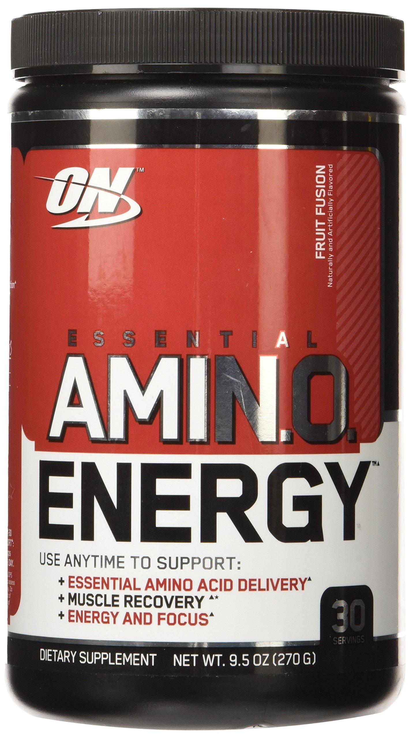 OPTIMUM NUTRITION ESSENTIAL AMINO ENERGY, Fruit Fusion, 30 Servings (Pack of 3)