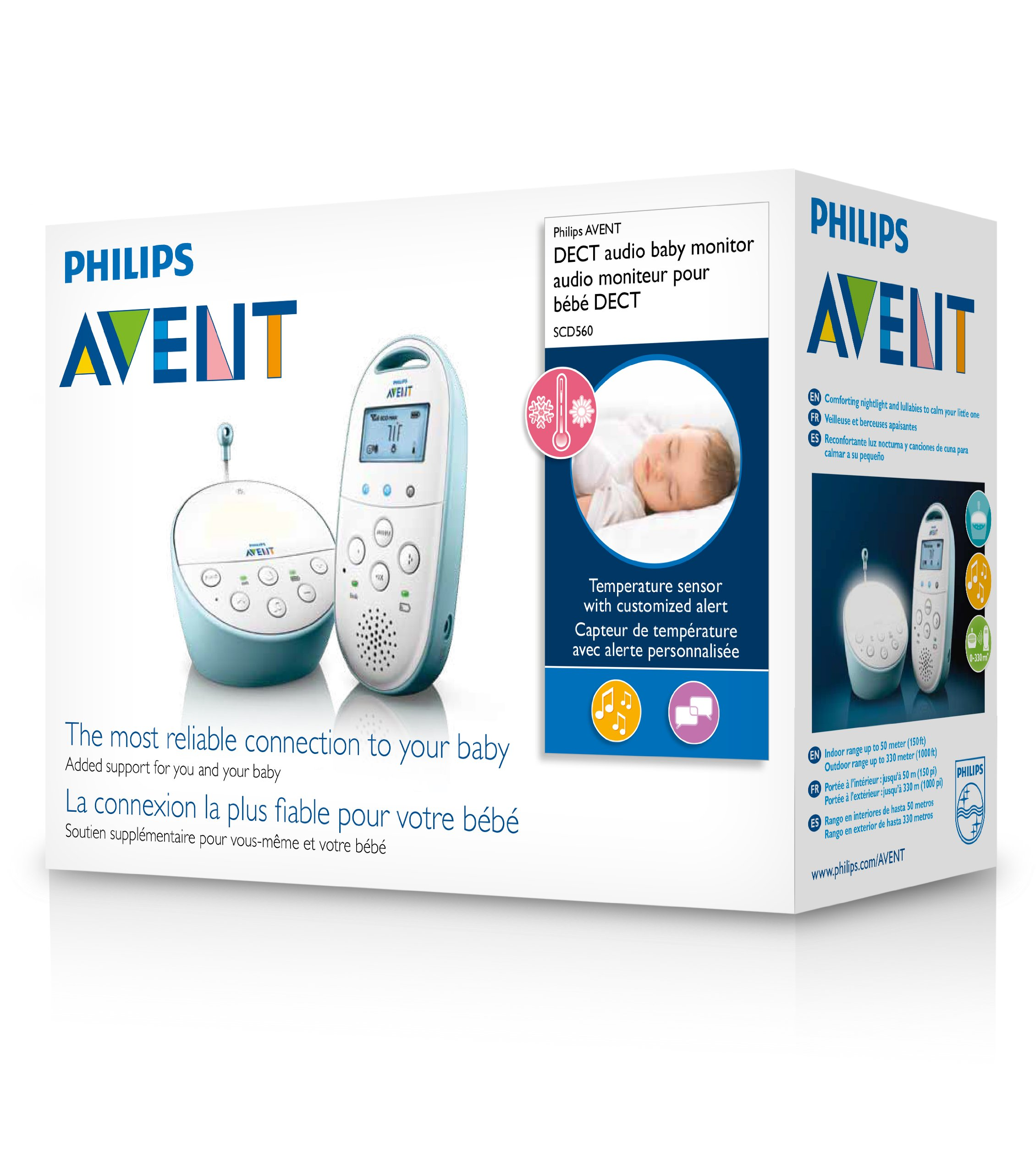 Philips Avent DECT Baby Monitor with Temperature Sensor by Philips AVENT (Image #3)