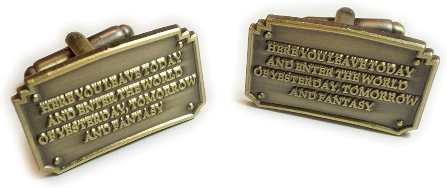 Disney Disneyland Entrance Plaque Fantasy Cufflinks Cuff Links Pair