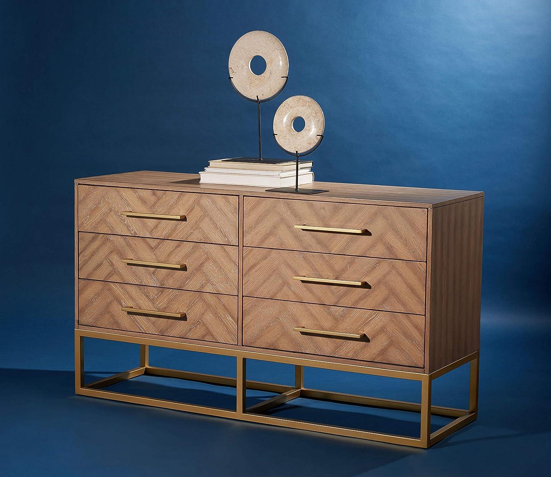 Safavieh Couture Collection Estelle Rustic Oak 6-Drawer Dresser