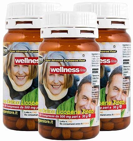 Suplementos Próstata Salud Bienestar 3 BOX 60 Tabletas Formulación con Serenoa Repens (Saw palmetto) Ortiga Licopeno Remedio Natural 1 Paquetes de 2 Meses ...
