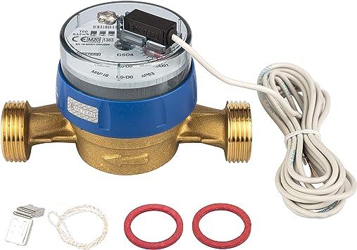 Wasserzahler Qn 2 5 Bl 130mm Mit Impulsausgang 1 Liter Gsd 8 Kaltwasser Eichung 2020 Amazon De Baumarkt