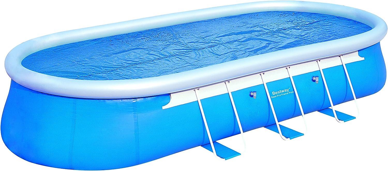 B/âche solaire ovale 682 x 311 cm pour piscine hors sol Fast Set Bestway