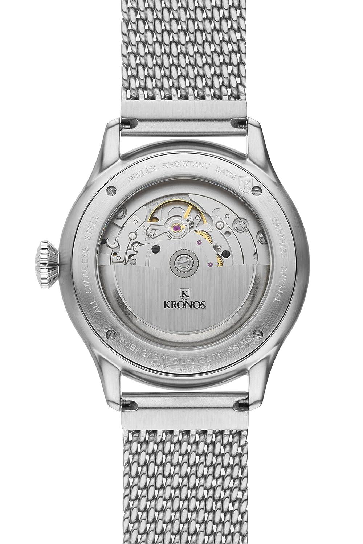 Kronos - Pilot Automatic Black 990.8.55 - Reloj de caballero automático, brazalete de acero, color esfera: negra: Amazon.es: Relojes