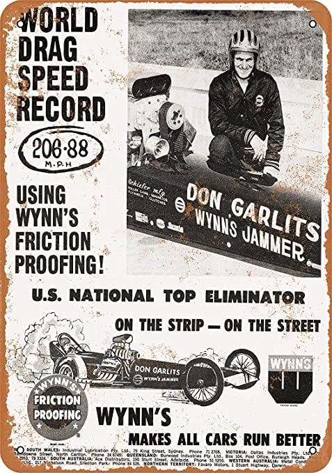 Wynns Friction Proofing Póster De Pared Metal Retro Placa ...