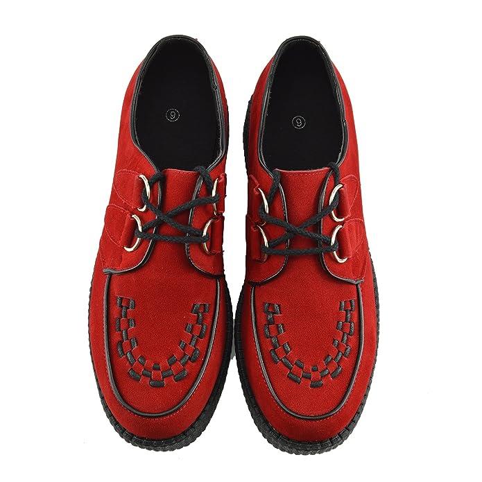 Mens Enredaderas De La Moda Negro Pisos Vestido Formal De Zapatos - REINO UNIDO 11 / UE 45, Rojo