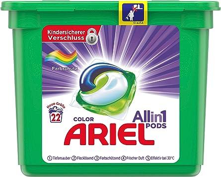Ariel All-in-1 PODS Color - Pintura de protección (22 lavados, 687 g ...