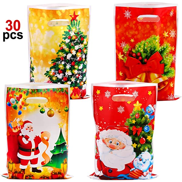 HOWAF Navidad Regalo Bolsas Plastico para Caramelos Dulces ...