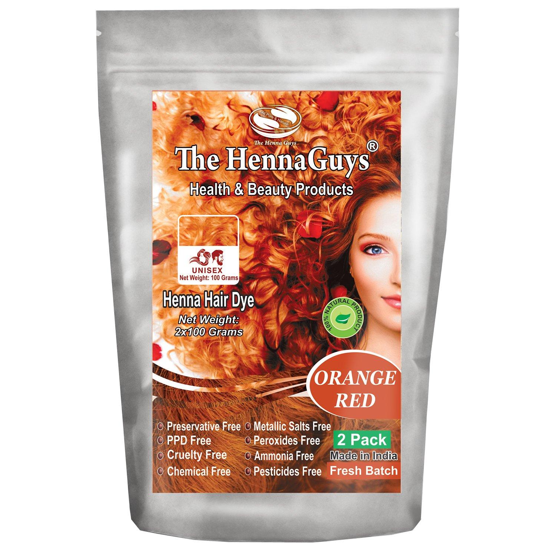 Red Orange Henna Hair Color / Dye 3 Pack - The Henna Guys