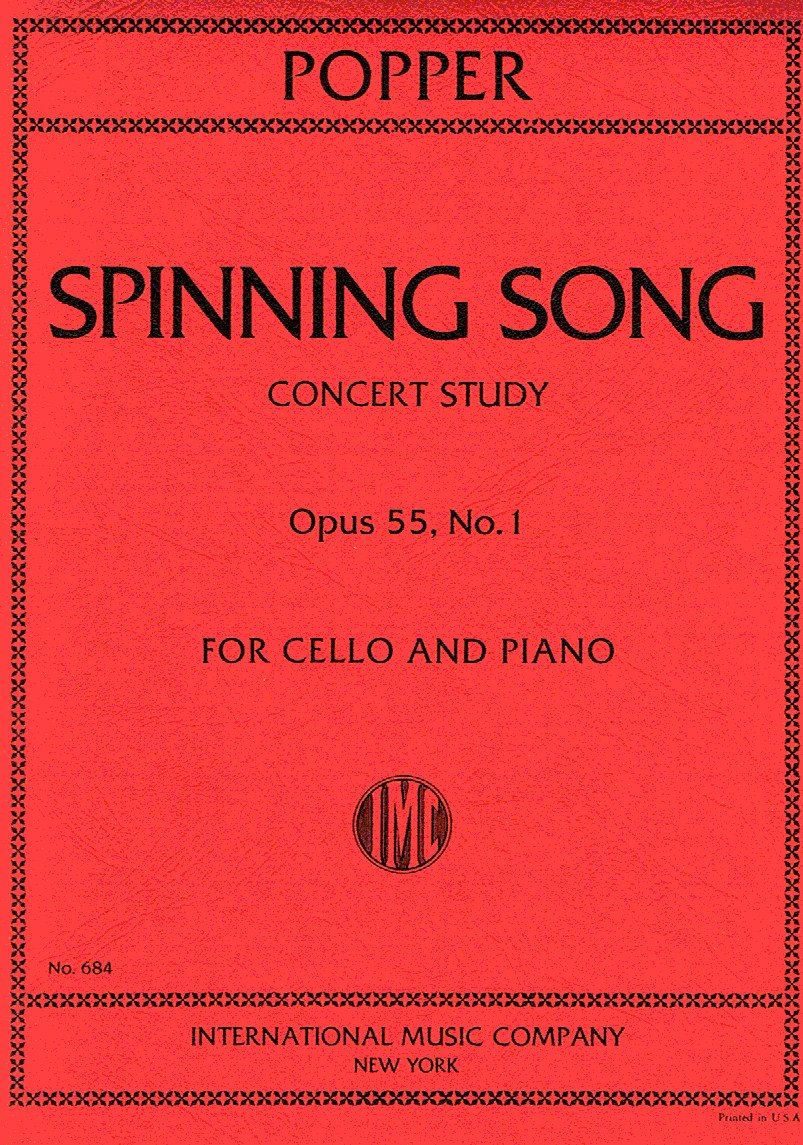 POPPER - Spinning Song Op.55 nº 1 para Violoncello y Piano: Amazon ...