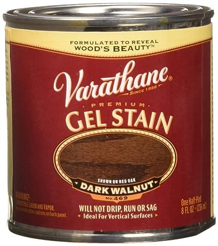 Varathane 224503 Premium Gel Stain Half Pint Dark Walnut