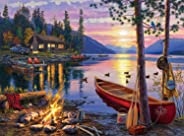 Buffalo Games - Darrell Bush - Canoe Lake - 1000 Piece Jigsaw Puzzle