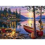 Buffalo Games 11240 Darrell Bush: Canoe Lake Jigsaw Puzzle (1000 Piece)