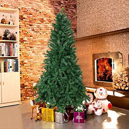 karmas product 7 ft high christmas tree 1000 tips decorate pine tree with metal legs with - Christmas Tree Bags Amazon