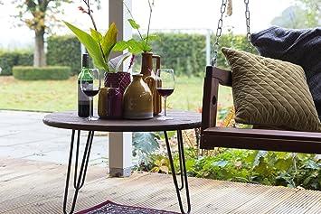 MaximaVida Table basse ronde retro Hairpin, 60 cm x 43 cm, table en ...