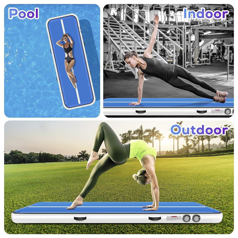 Amazon.com: Furgle tapete inflable para piso de gimnasia con ...