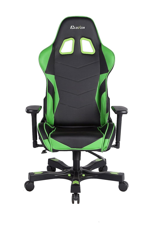 Amazon.com: Clutch Chairz Crank Series Charlie Gaming Chair (Black ...