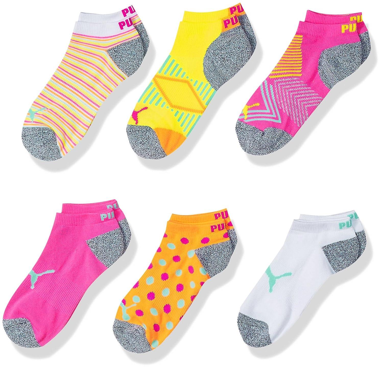 PUMA girls Puma Girls 6pk Low Cut Sock P104378NR