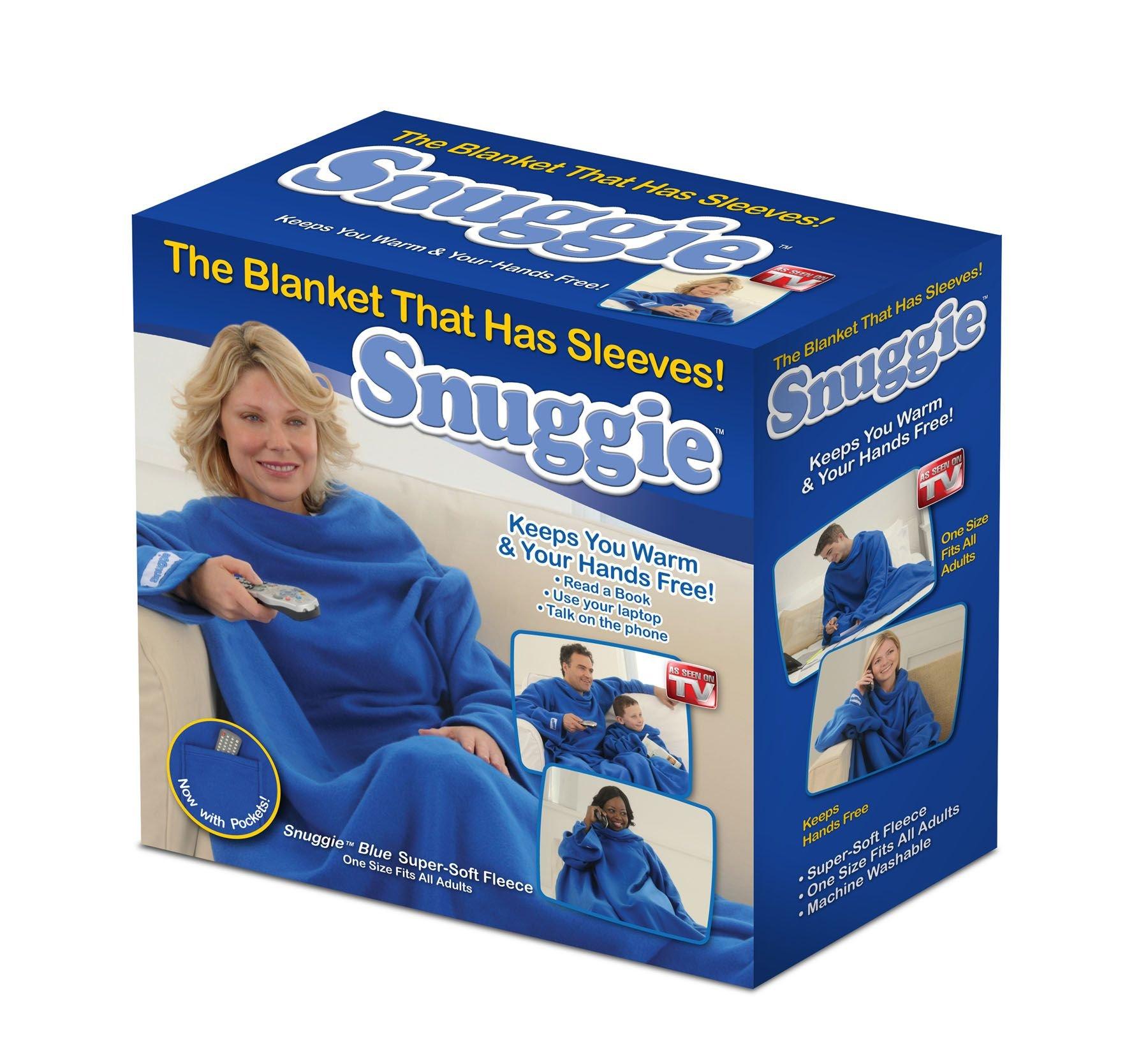 Snuggie True Fleece Blanket with Sleeves, Blue