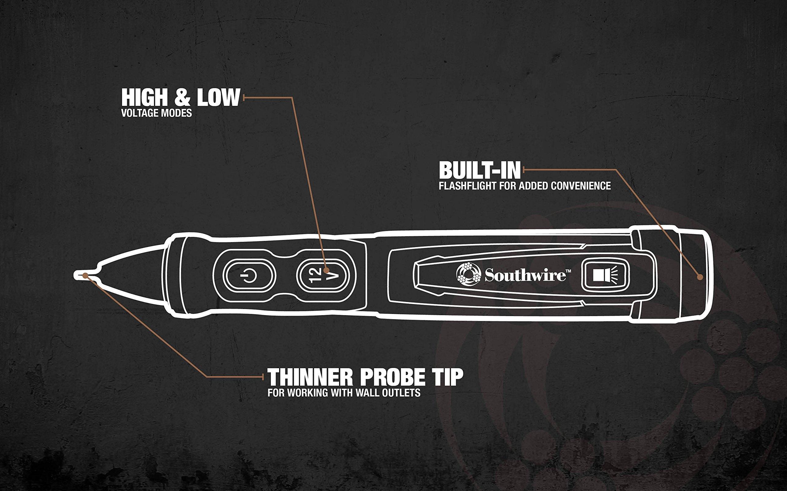 Southwire Tools & Equipment 40150N Advanced Dual Range NCV 12-1000V ...
