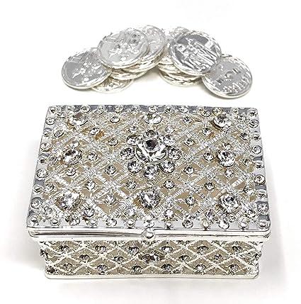 Boda unidad moneda Set – ARRAS DE BODA – Caja de pecho y decorativa para cristales