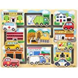 Melissa & Doug Deluxe Wooden Vehicles Maze Puzzle