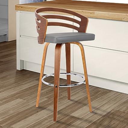 Incredible Armen Living Jayden Mid Century Swivel Counter Height Barstool 26 Gray Cjindustries Chair Design For Home Cjindustriesco