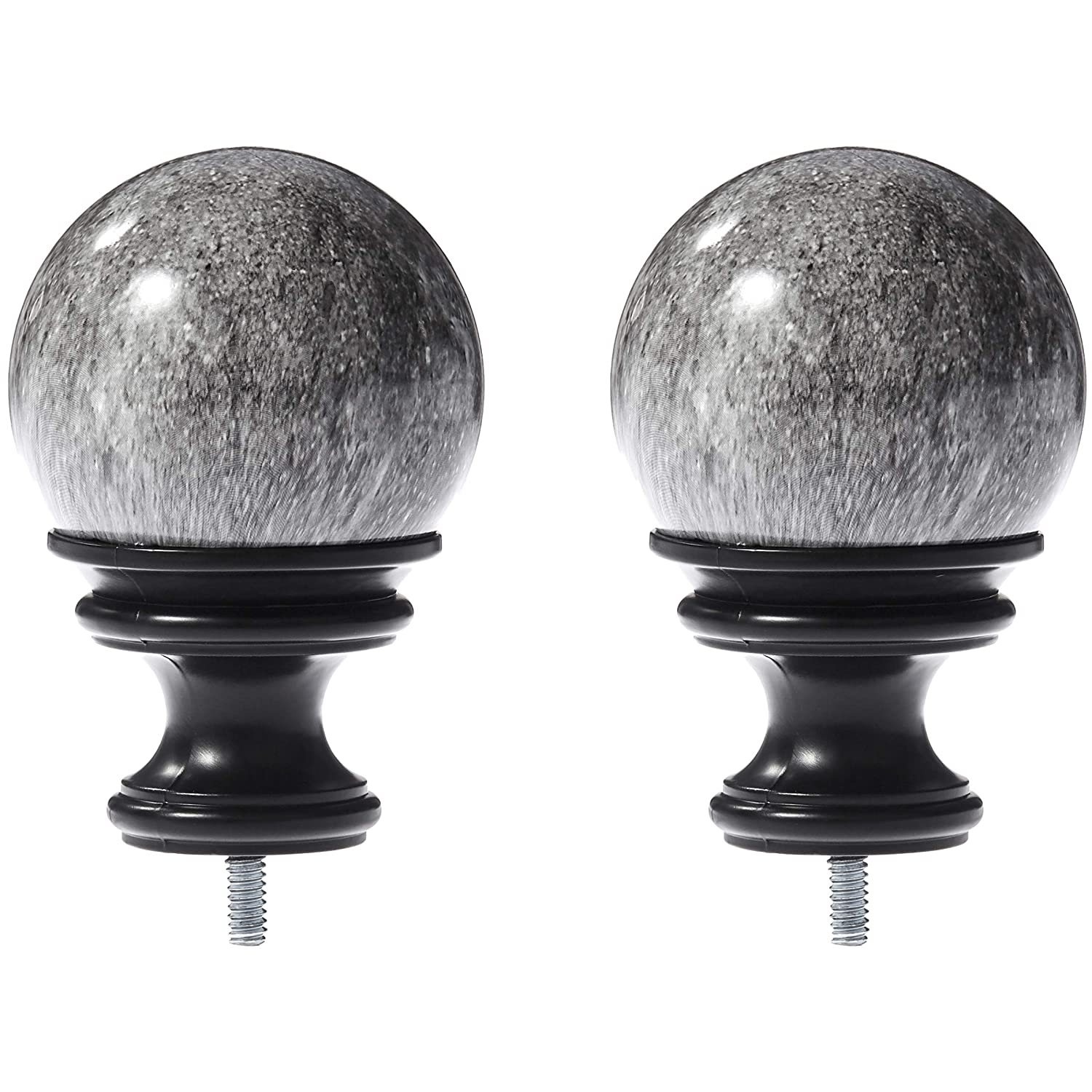 AmazonBasics Marble Ball Finial - Black