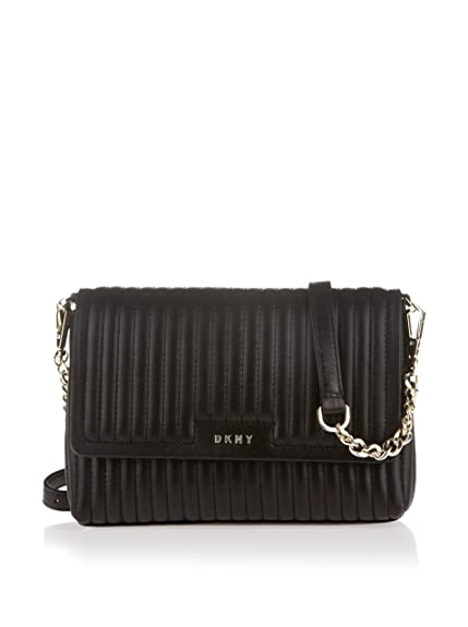 01e4727181 DKNY Gansevoort Black Leather Quilted Cross-Body Bag Black Leather ...
