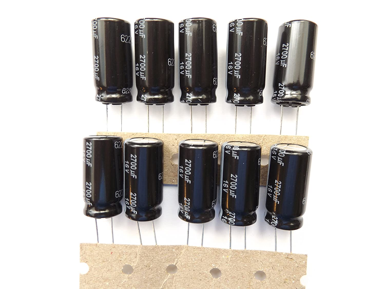 2x EEUFR1C272B Capacitor electrolytic low impedance THT 2700uF 16VDC