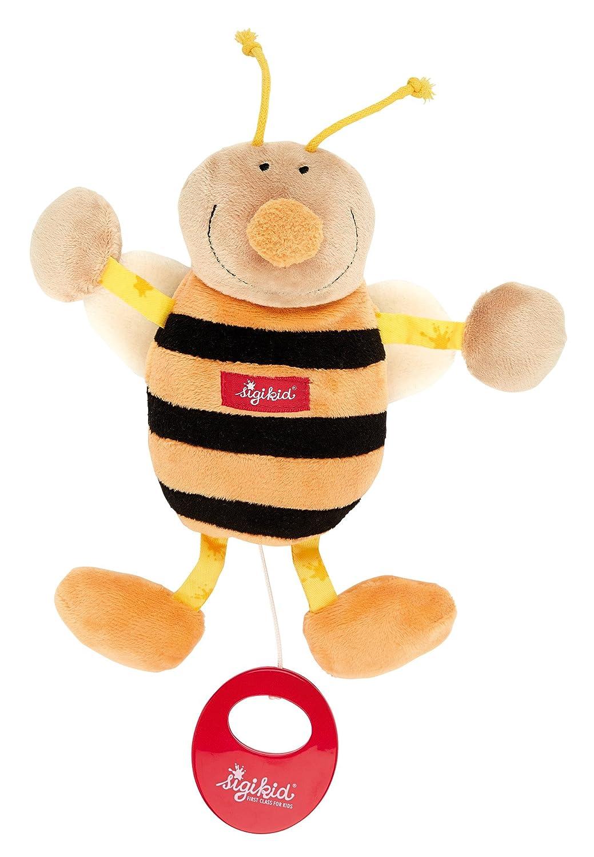 sigikid 49307, fille et garçon, peluche musicale abeille, jaune/noir jouet bébé enfant qualité