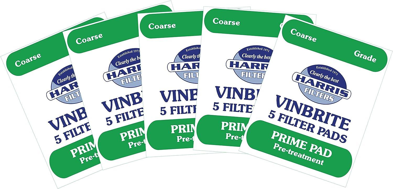 Harris Crystalbrite Filter Pads 5-pack Use with Harris Vinbrite MK3 Filter Kit