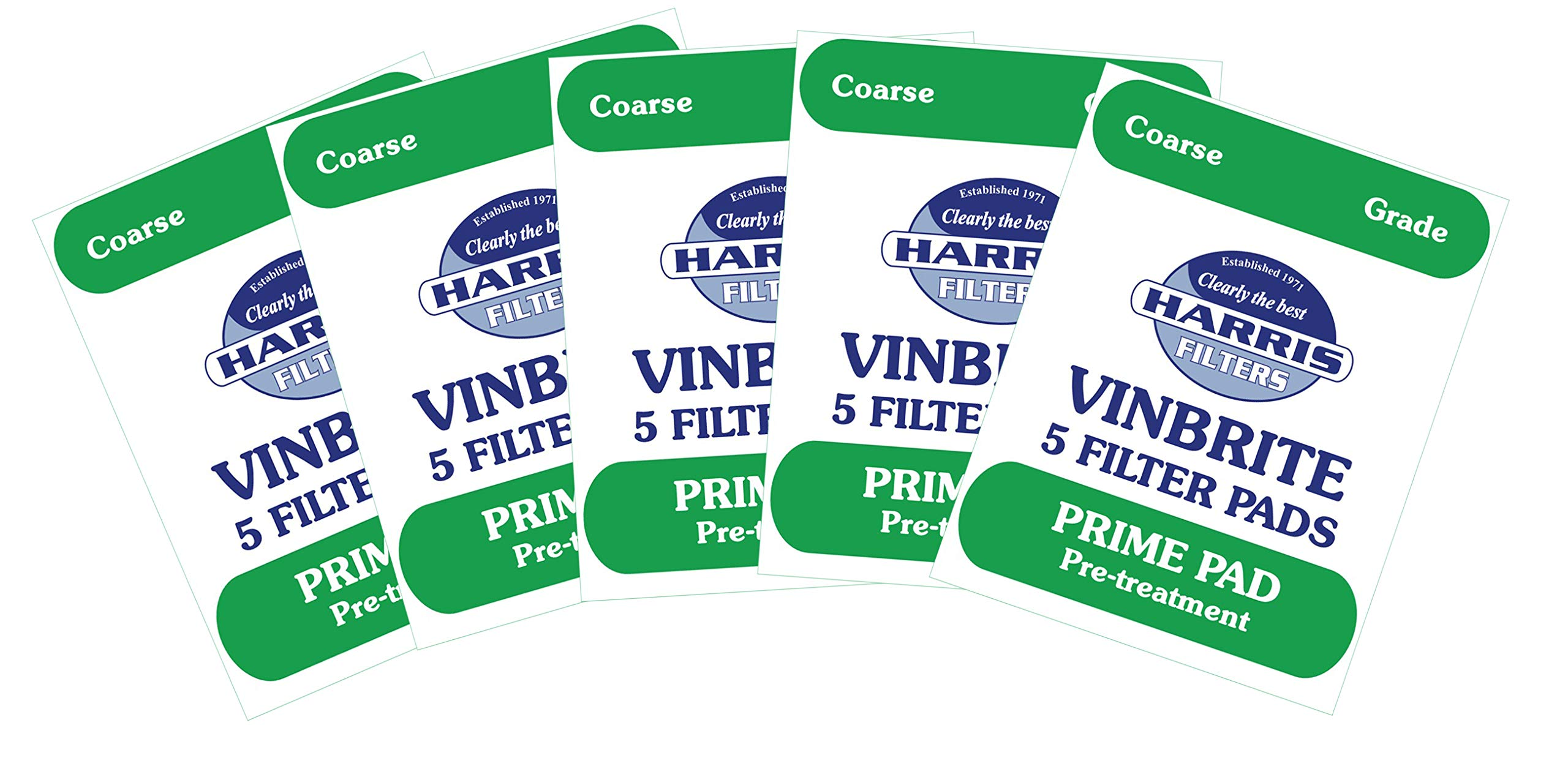 5x Harris Prime Pre-Filter Pads 5-pack Use with Harris Vinbrite MK3 Filter Kit