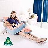 Australian Made Pregnancy/Maternity/Nursing Pillow Body Feeding Support (Light Pink x Sky Pillowcase Included)