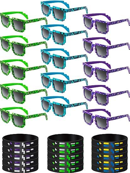 Amazon.com: 15 juegos de gafas de sol pixeladas Pixel Gamer ...