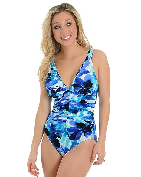 Amazon.com: Womens Miraclesuit 1 pieza traje de baño ...