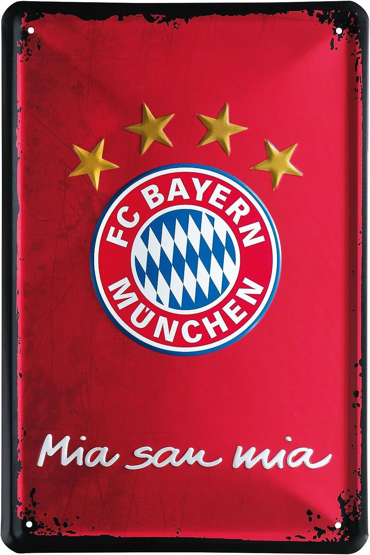 FC Bayern M/ünchen Metallschild 2er Set