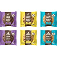 Munk Pack Protein Cookie | Variety | 18G Protein | Vegan, Gluten Free, Dairy Free, Soy Free, Soft-Baked | 2.96oz, 6-Pack