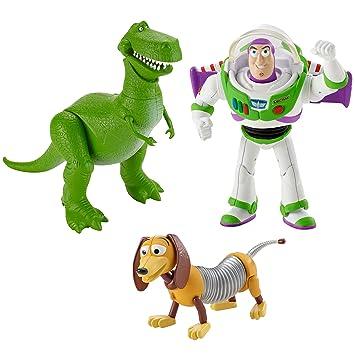 Disney Pixar Toy Story andy s room Set de regalo BUZZ LIGHTYEAR Rex SLINKY  perro figuras b8f94c7c3d3